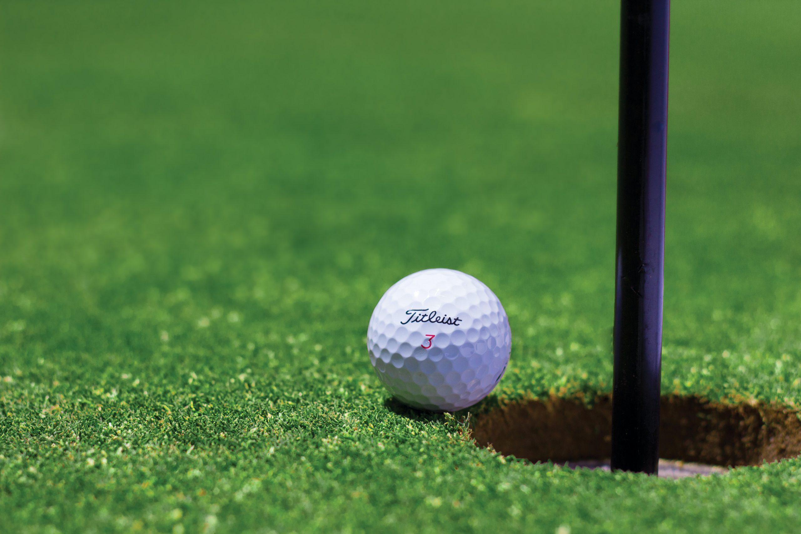 golfbaan met kunstgras